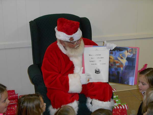 Santa Claus and storybook in Kansas City